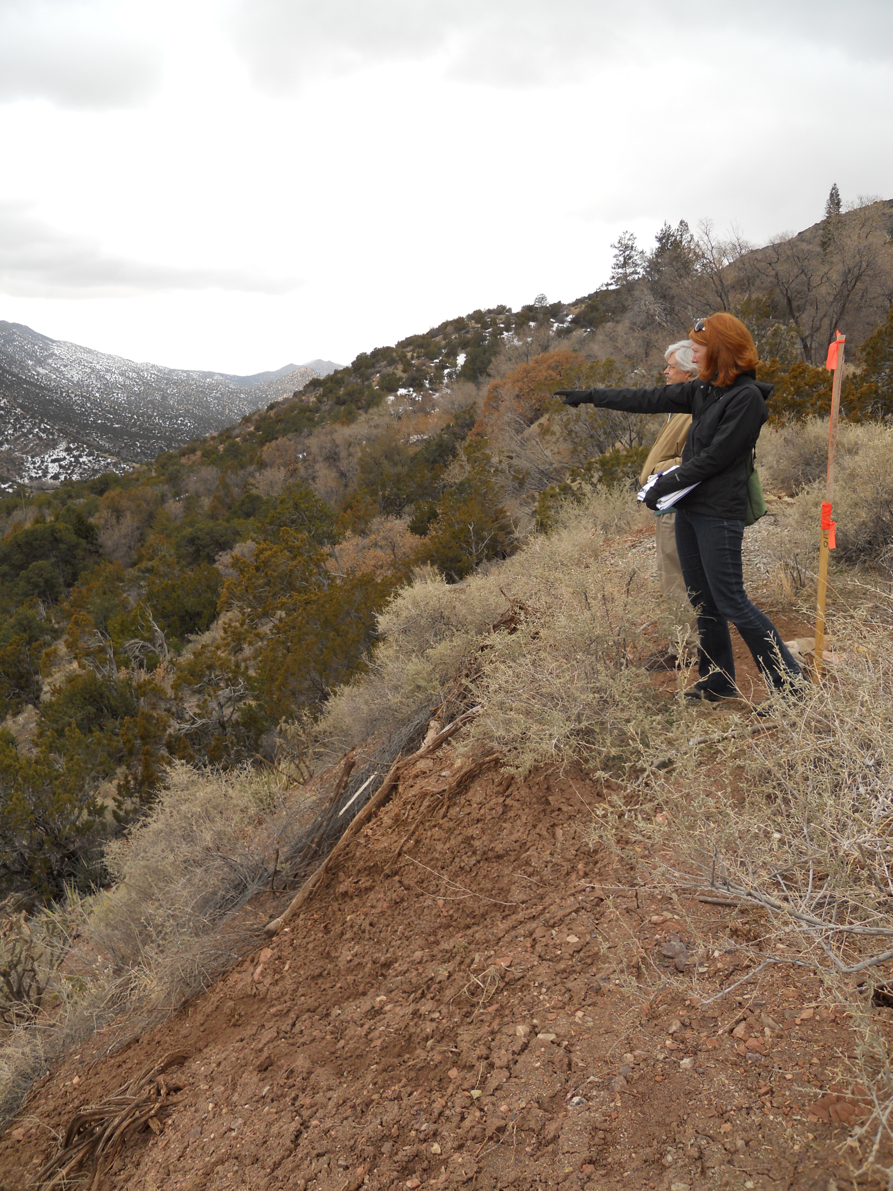 Kristina Werenko of MRWM on a site survey at Carlito Springs