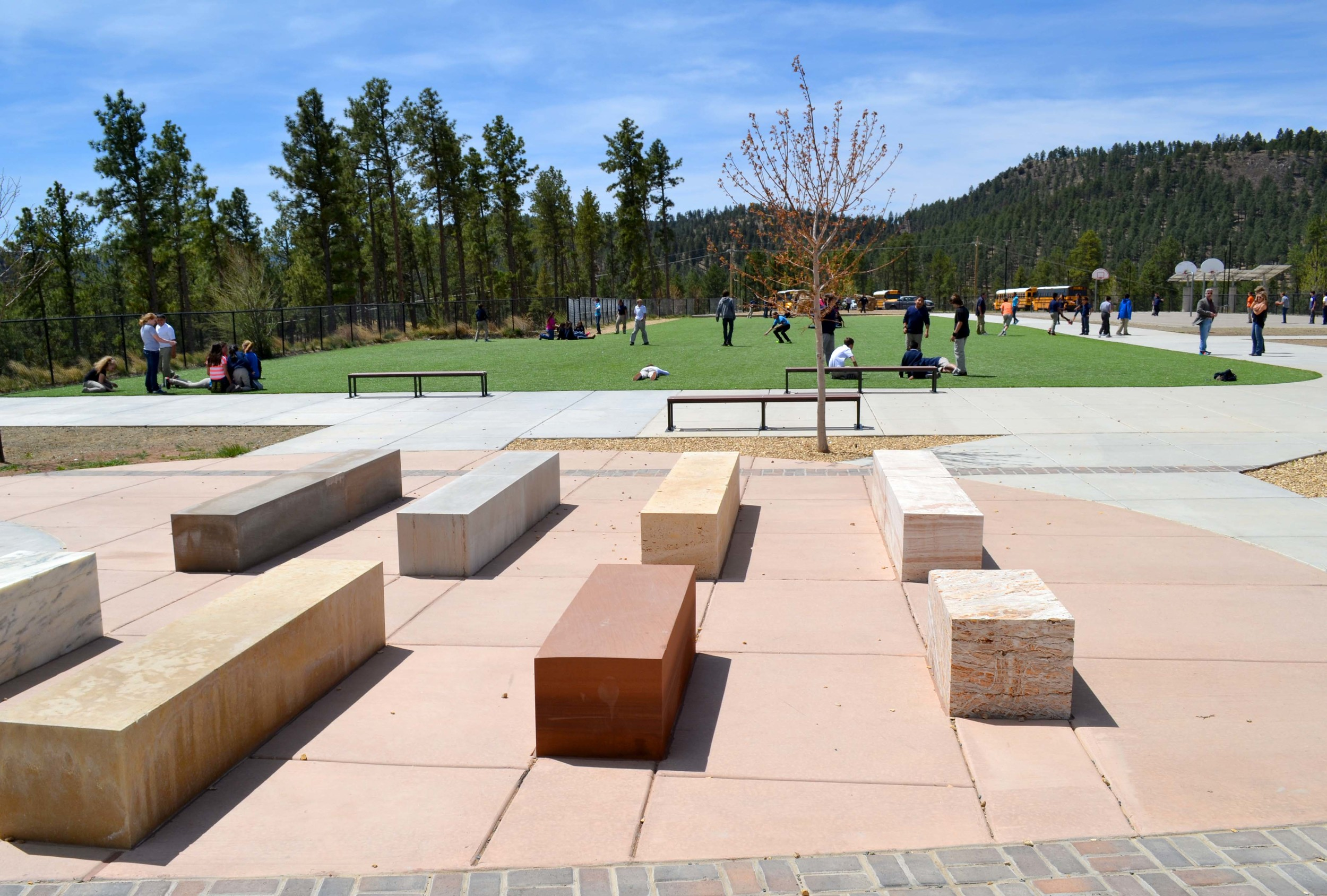 Outdoor seating plaza