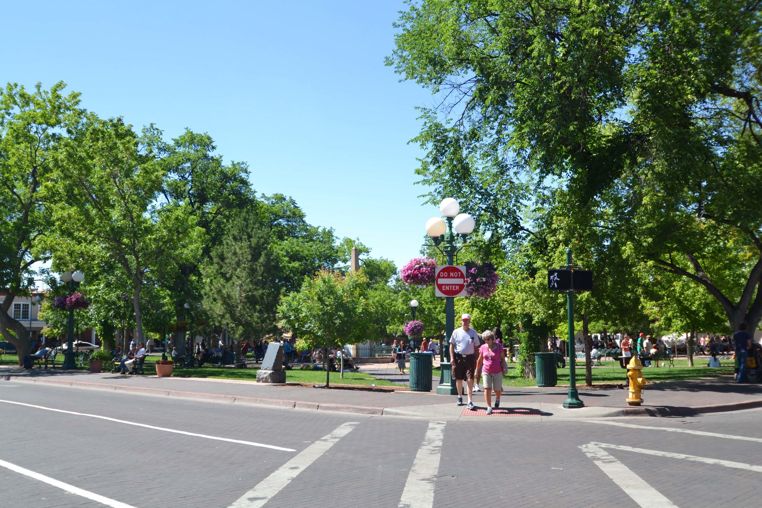 Historic Santa Fe Plaza, Santa Fe NM