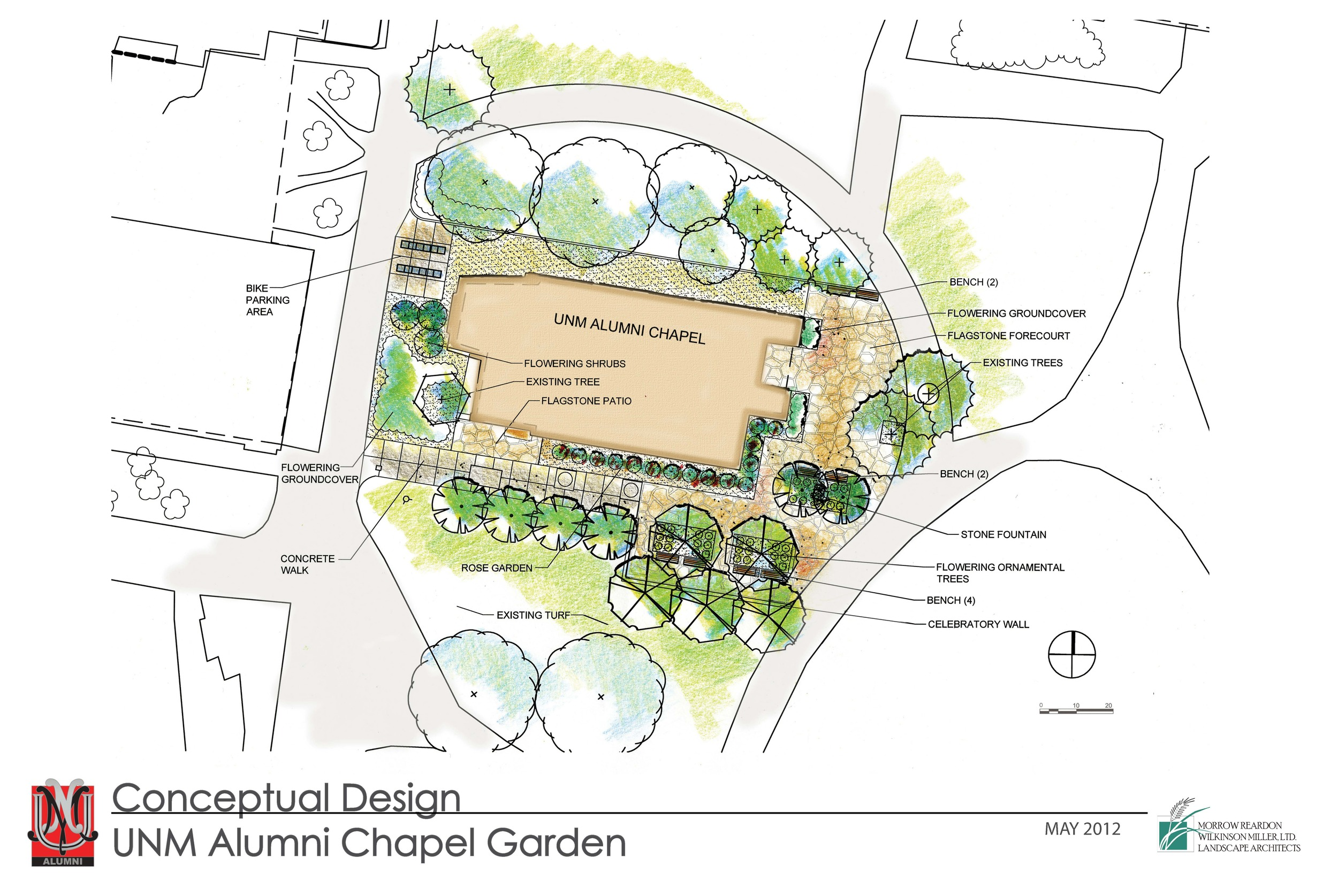 Plan sketch of chapel landscape renovation
