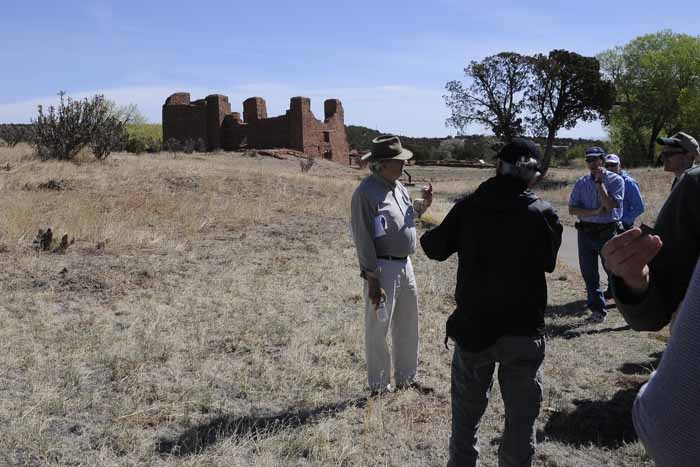 Salinas Pueblo Missions, New Mexico - field meeting with Baker Morrow