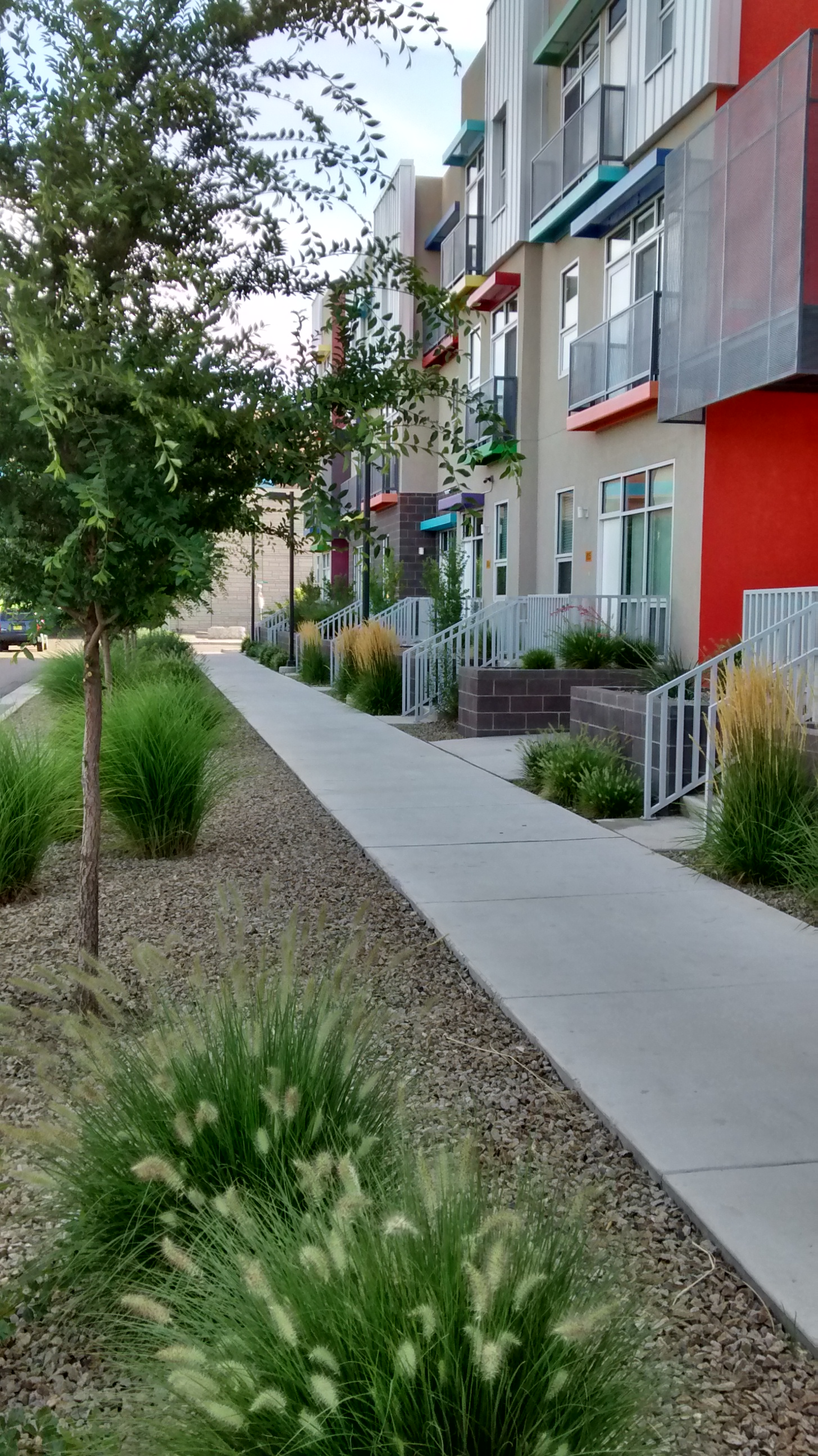 Carefully integrated street plantings