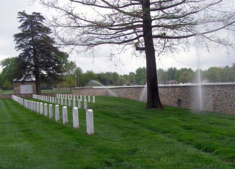 Fort Scott National Cemetery new Irrigation design in action