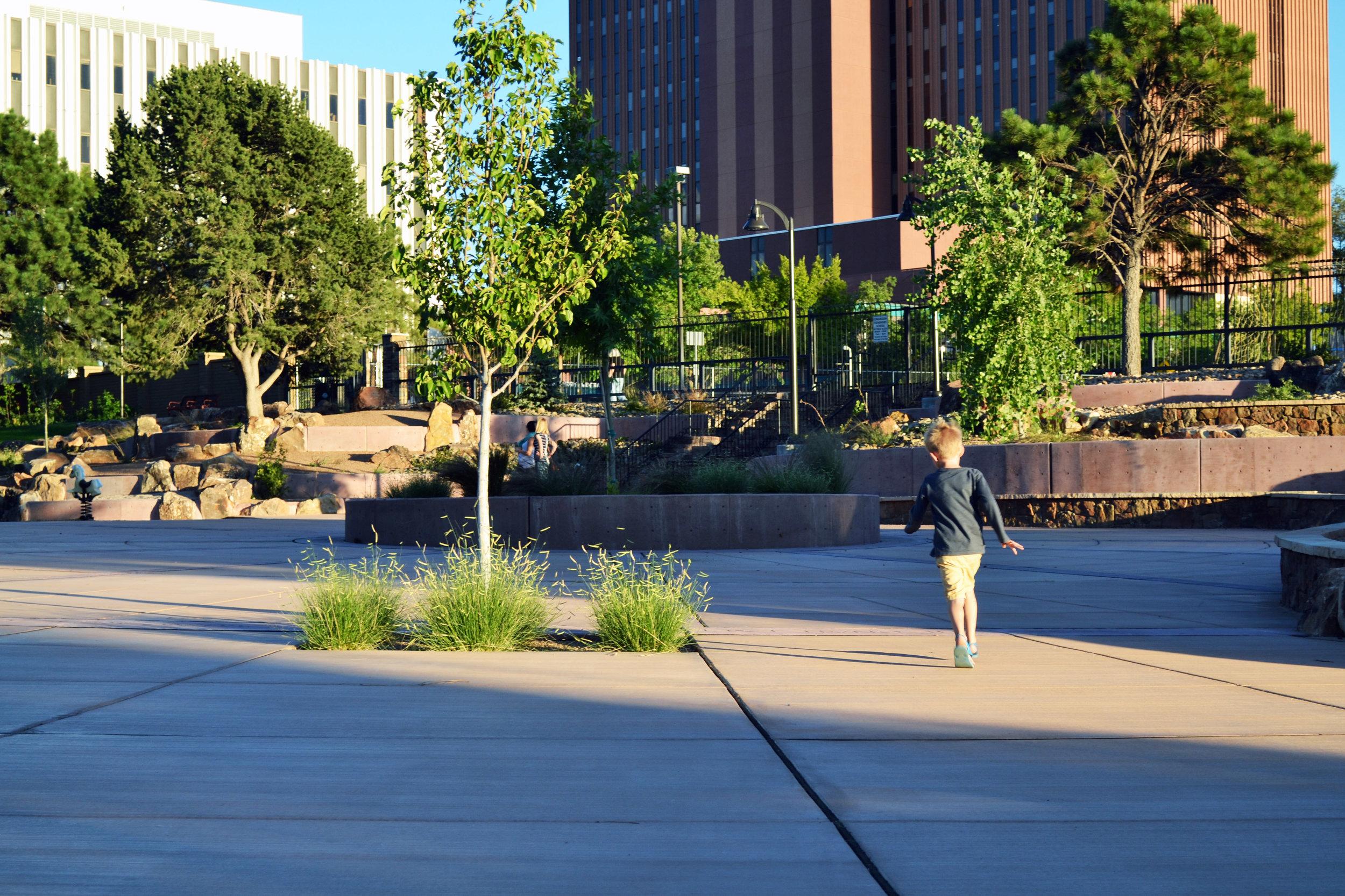 Martineztown Park plaza