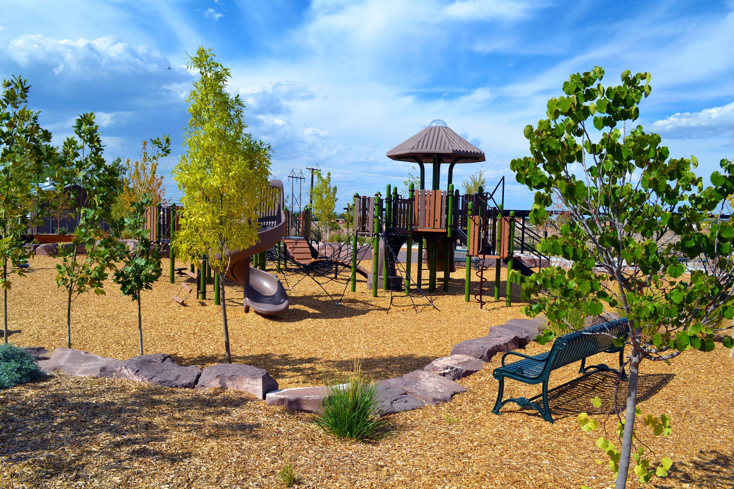 4 Four Hills Village Park, Albuquerque NM -  elevated play structure