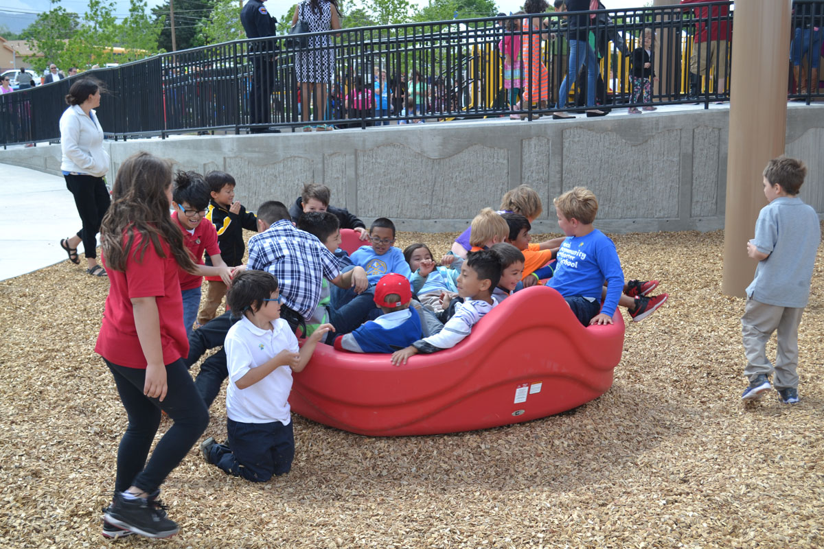 Spinning play equipment - always popular!