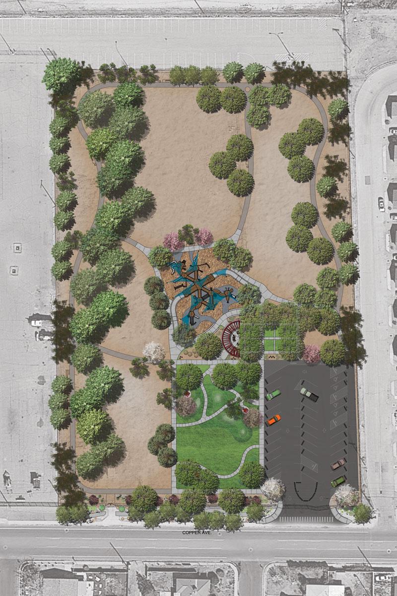 Daniel Webster Park - site plan