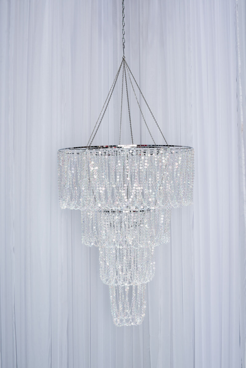 Round 4-Tier Crystal Chandelier