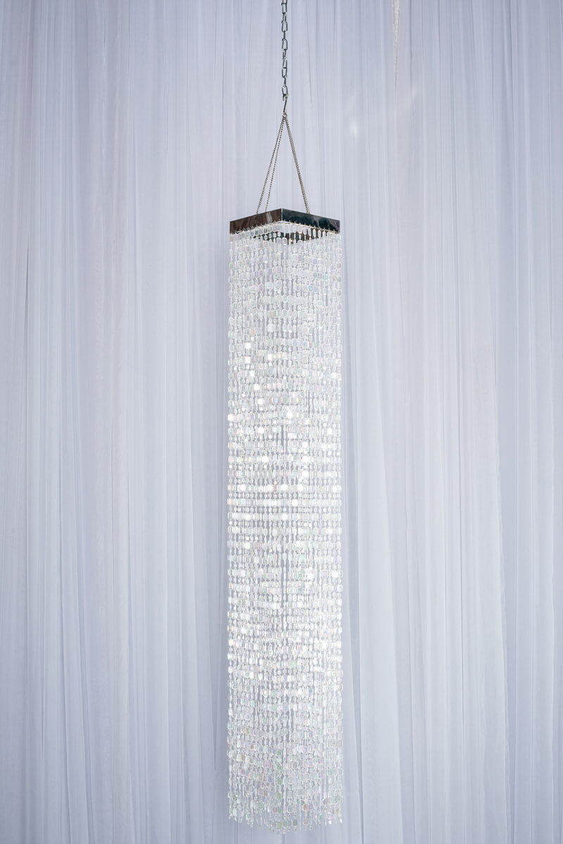 square crystal beaded chandelier