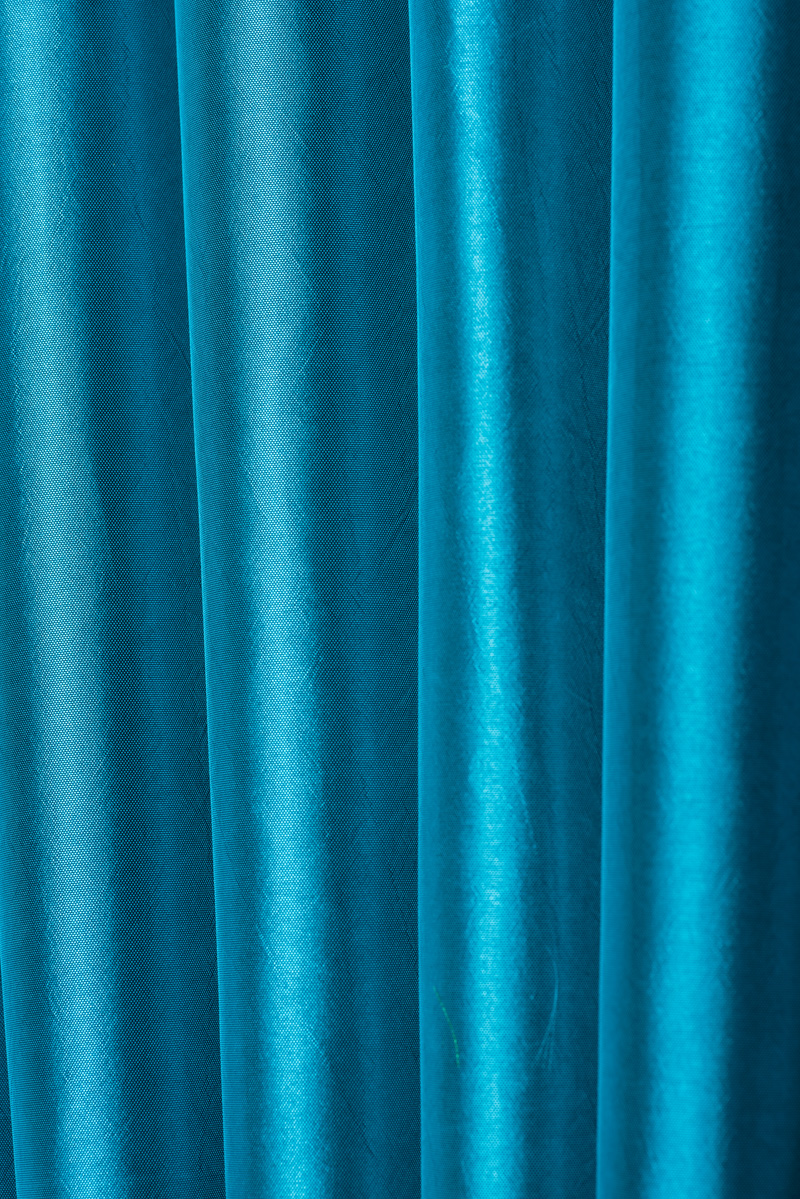 teal blue taffeta