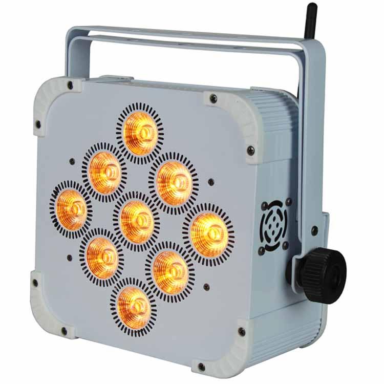 white battery powered led uplight (rgbwauv)