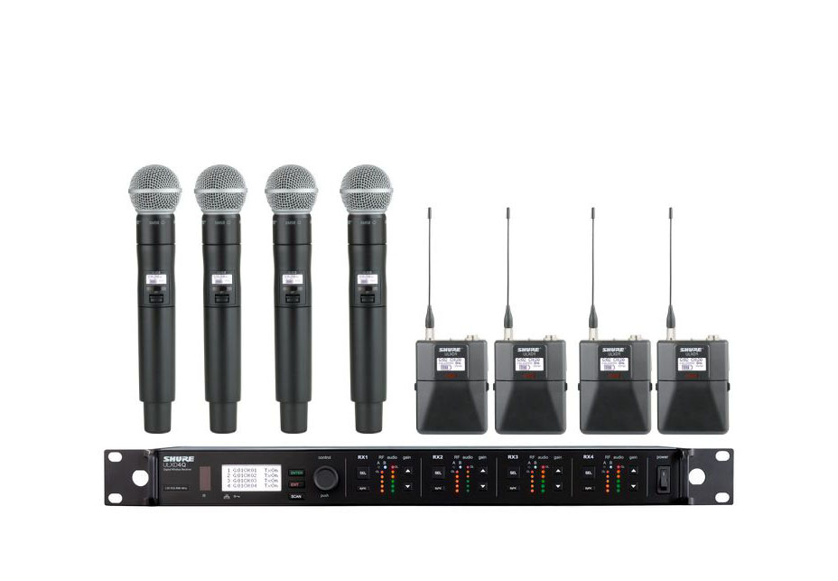 4 channel wireless rack (4 handheld & 4 lavaliers)