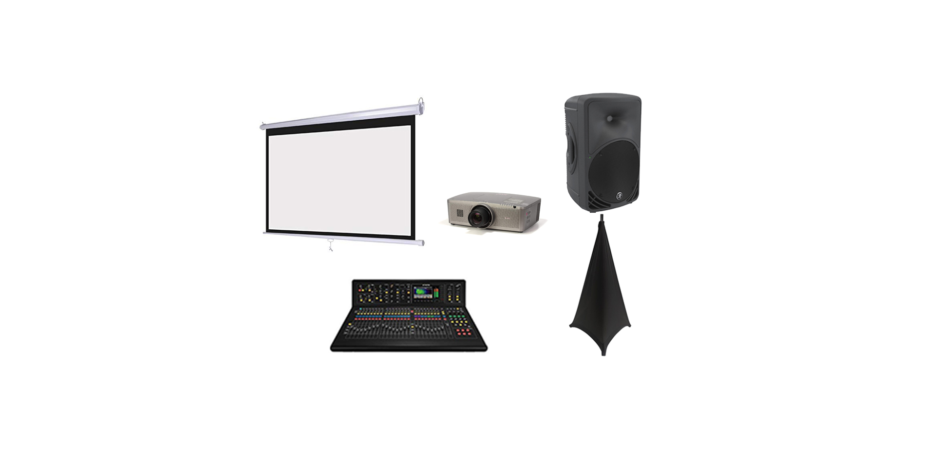 projector/screen av package