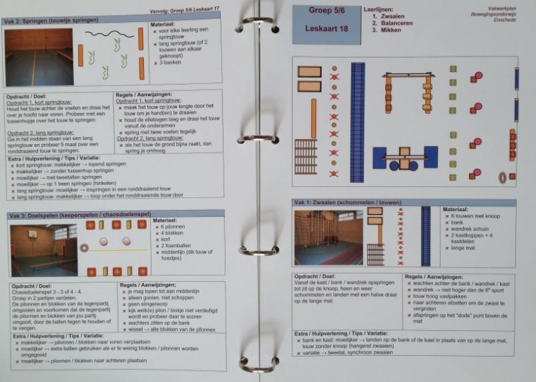 Voorbeeld leskaarten