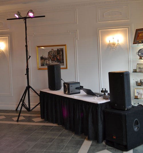 • Be your DJ with our DIY dance party package. Includes speakers, lights, a microphone, music laptop, and IPOD/mp3 player cable hook-up. Setup and tear-down service is included. An optional DJ laptop with a comprehensive music collection and simplistic DJ software is available. If you'd prefer a full-service DJ please visit our  sister company .