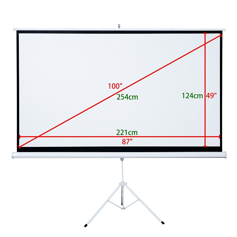 "100"" 16:9 projector screen"