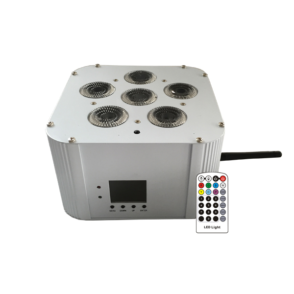 RGBWA-UV Battery Up-Light Par Can