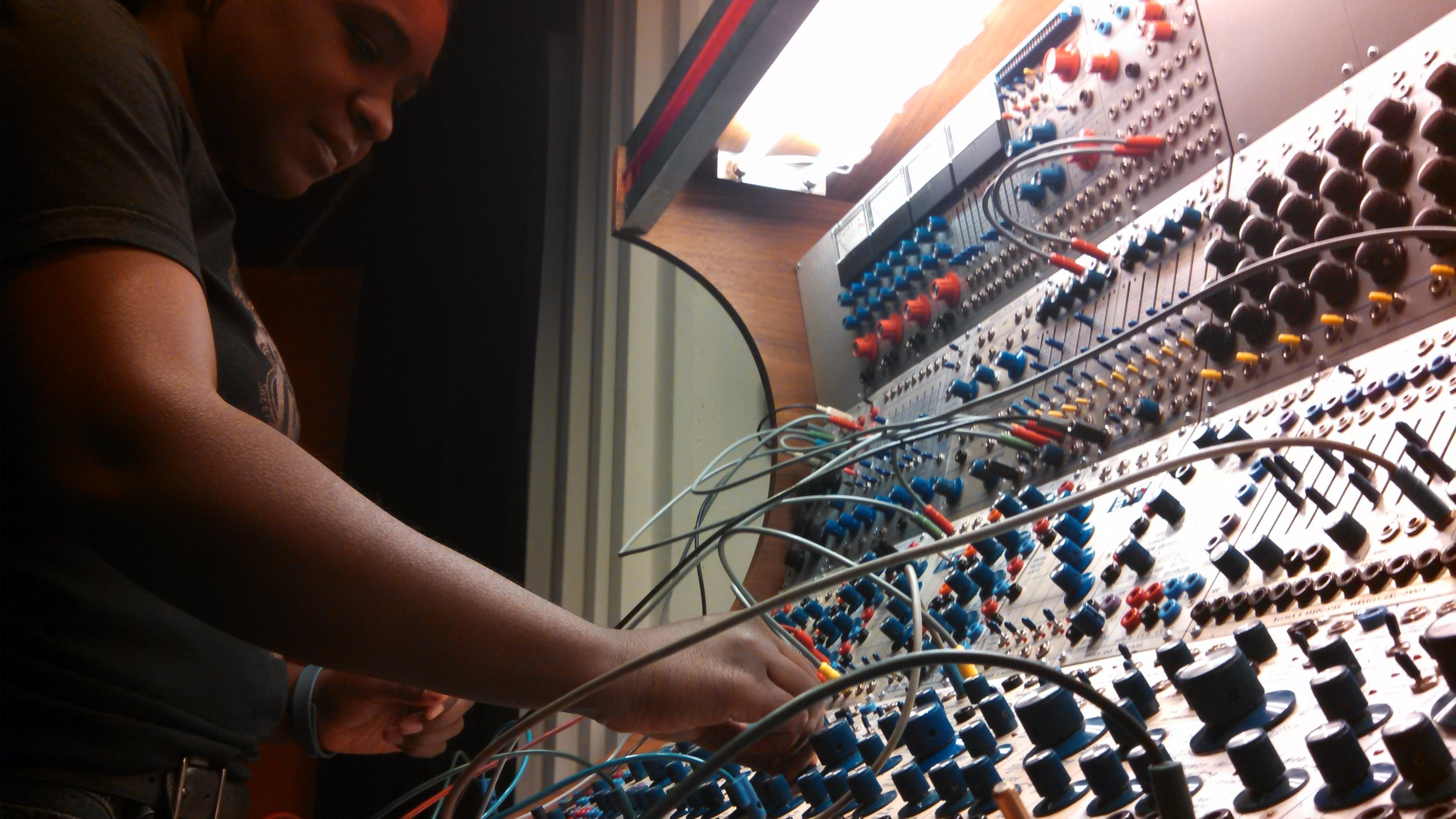 Buchla 200 modular synthesizer at EMS Stockholm