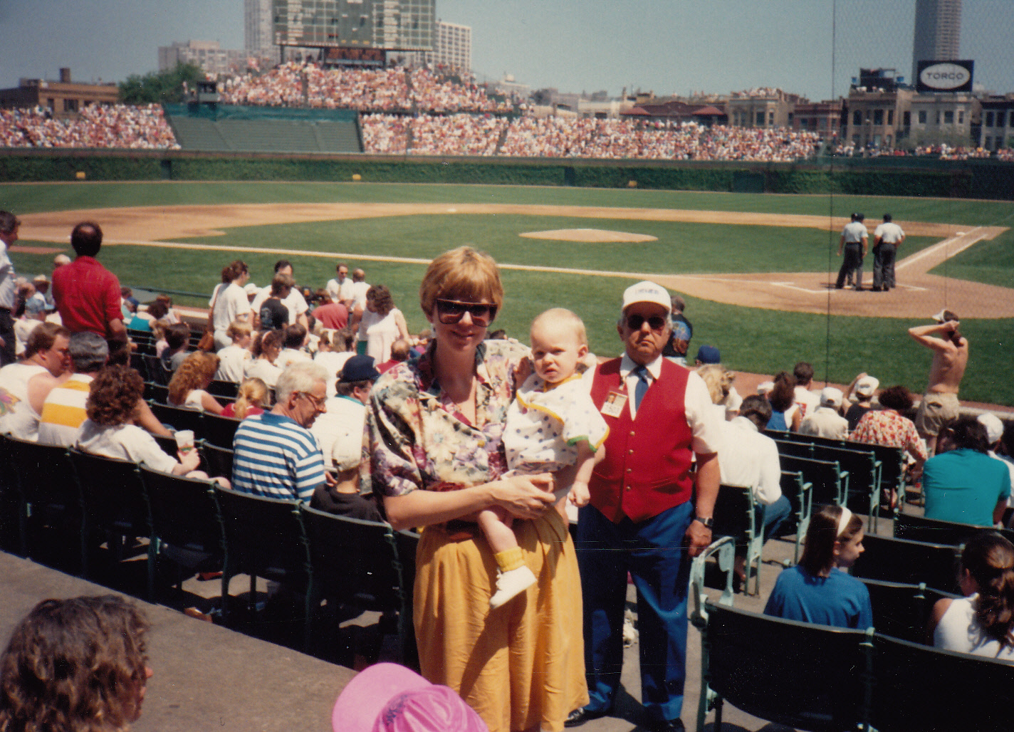 Apparently I was brought to Cubs games before I grew hair and after my clowning classes.