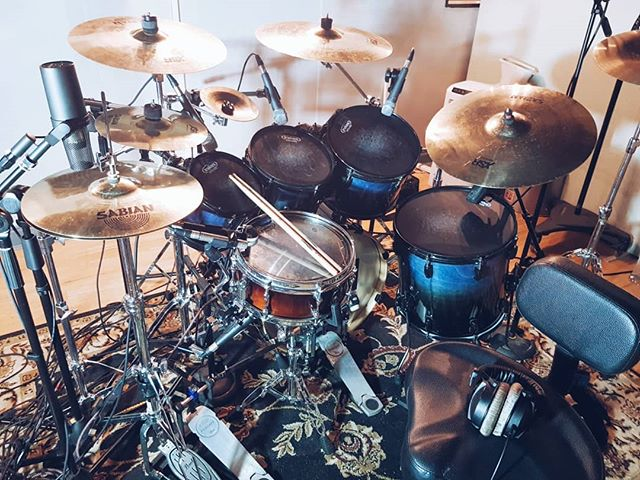 Drums for the next @volniirukbm release absolutely smashed! 8 songs completed in two days.  #UKBM #Blackmetal #Studio #Recording #Metal