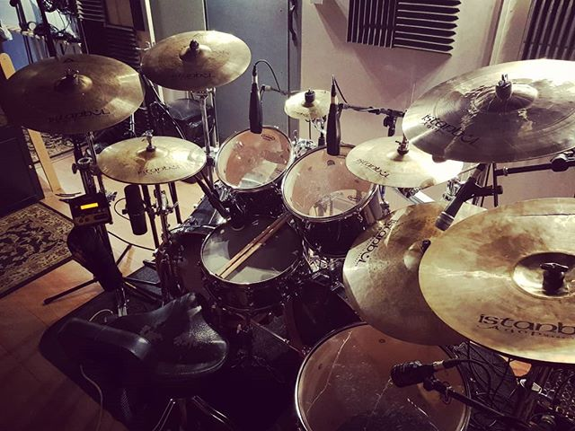 Drums done for the new #theinfernalsea album. Guitars this weekend.