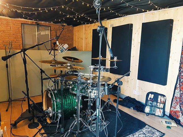 Nathan Abela has come up from London today to track drums for a function band showreel. DW kit is sounding great!  #Recording #Studio #Music #Drums