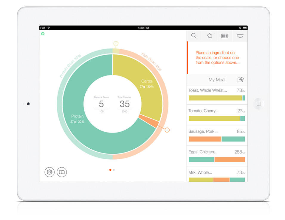 Countertop - The robust, highly intuitive app that powers the PrePad.