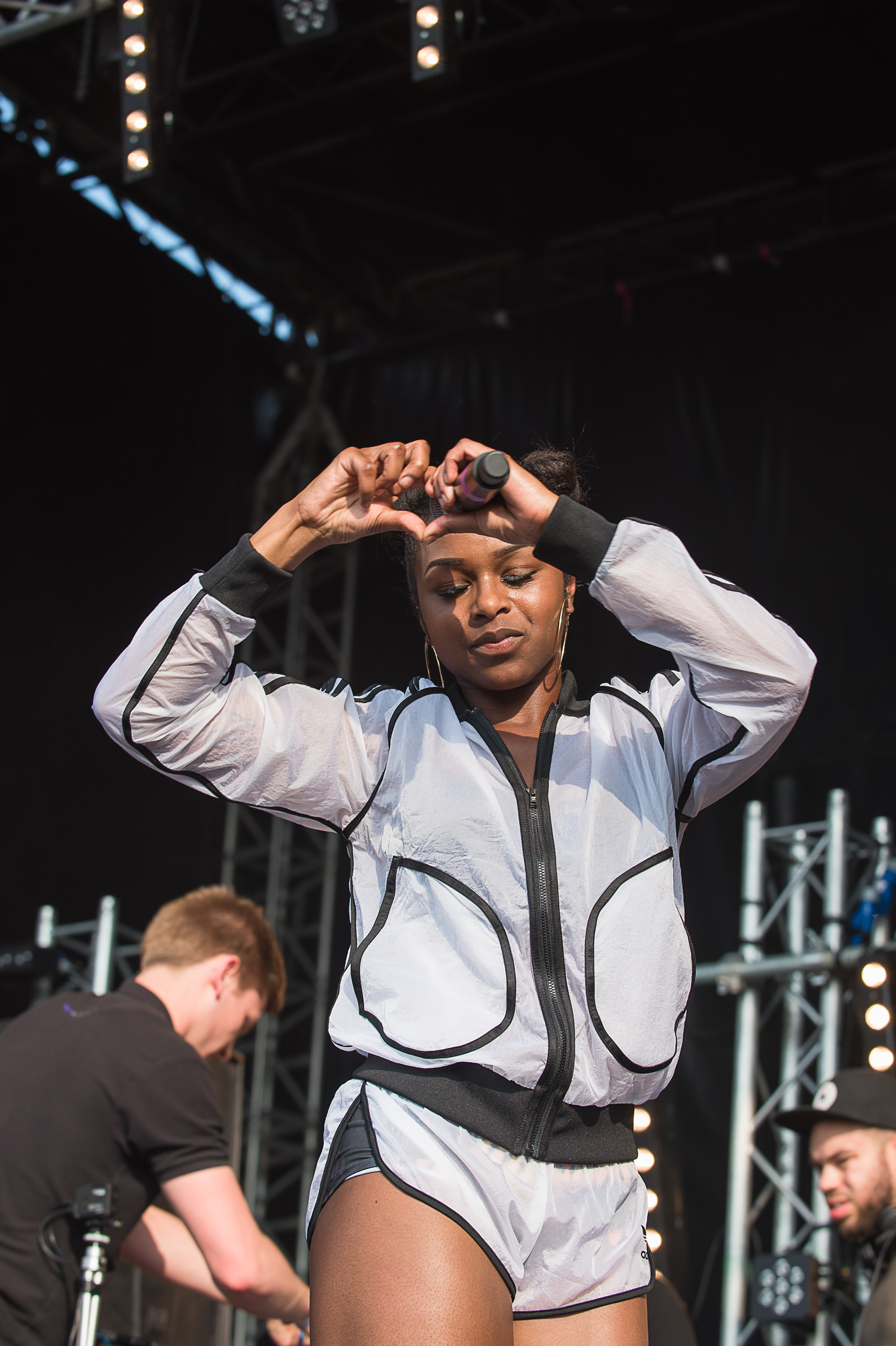 Nadia Rose play at Rinse   Born & Bred Festival 2016 in Haggerston Park - East London