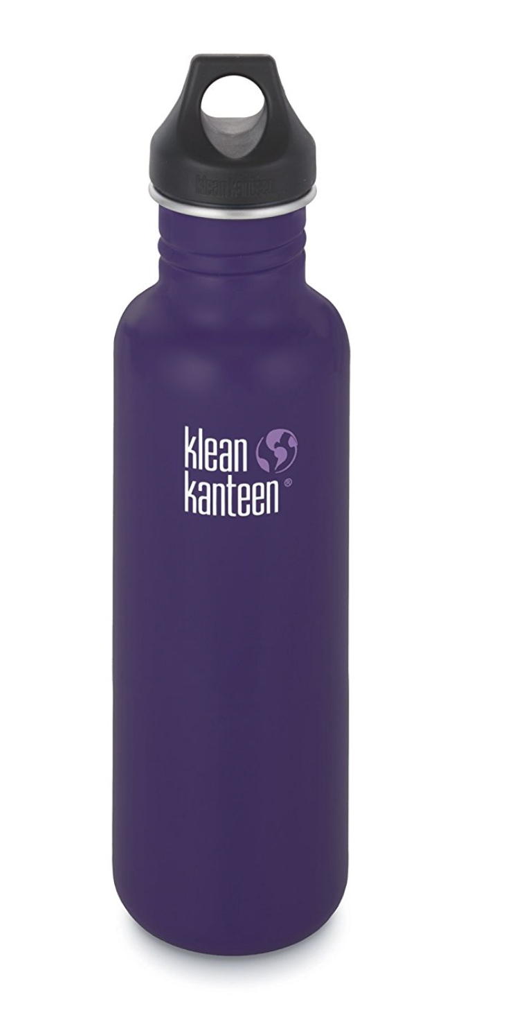 Klean Kanteen -  Klean Kanteen Classic Single Wall Stainless Steel Water Bottle with Leak Proof Loop Cap by Klean Kanteen Link: http://a.co/fobEVdo