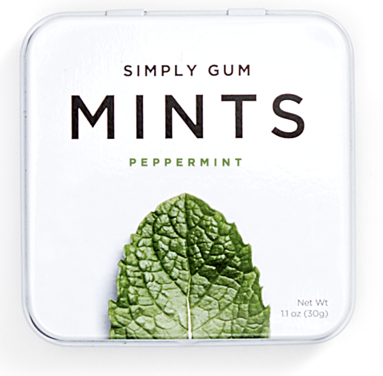 Simply Gum  - Using natural ingredients - better for your body, biodegradable and better for the planet.  Gum and mints in a variety of flavors. https://www.simplygum.com