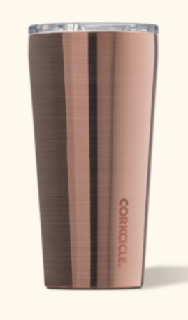 CORKCICLE  -  Say hello to the coolest cup ever. My personal favorite.Crafted from stainless steel with proprietary triple insulation, this vacuum-sealed wonder cup just doesn't quit. It keeps your beverages cold for 9+ hours and hot for 3. Stays cold even longer with drinks containing ice — even out in the sun. https://corkcicle.com/products/metallic-tumbler?variant=438162259983
