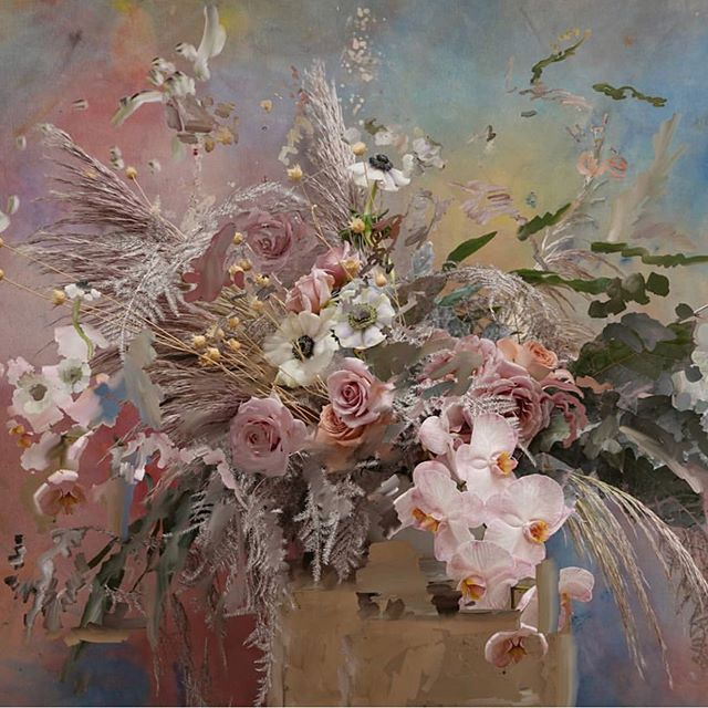 Sunday florals c/o @petra_cortright 🌸 . . #petracortright #digitalpainting #contemporaryart