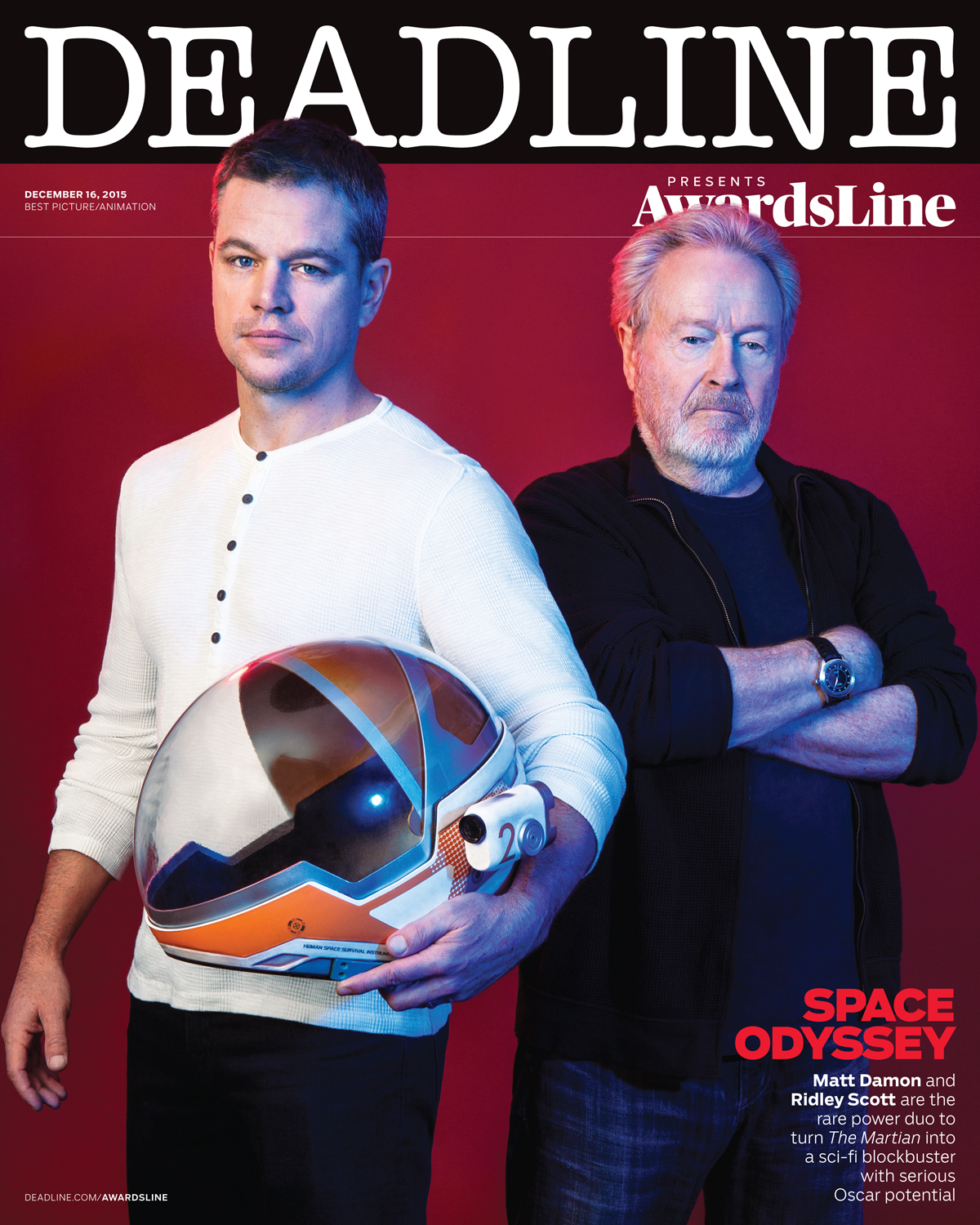 Awardsline Magazine, Matt Damon & Ridley Scott
