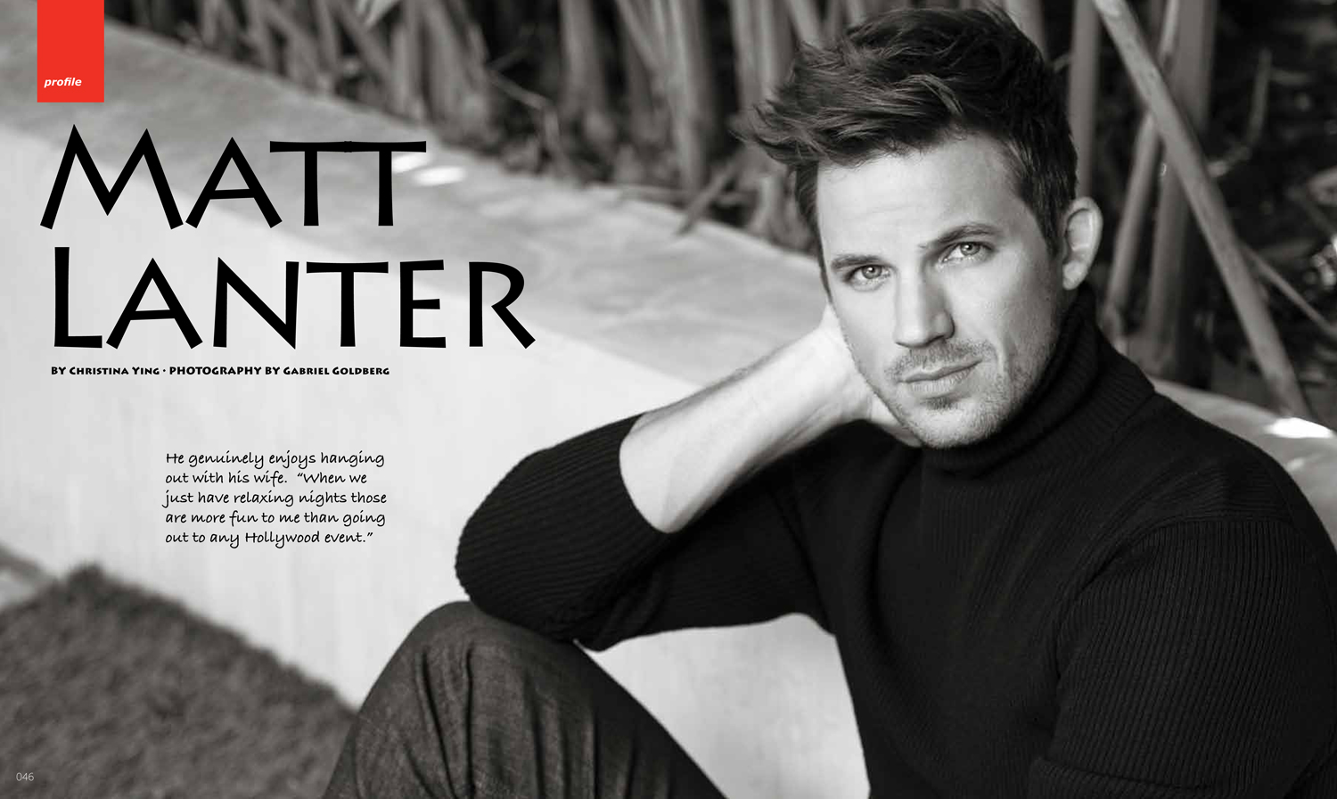 Moves Magazine, Matt Lanter