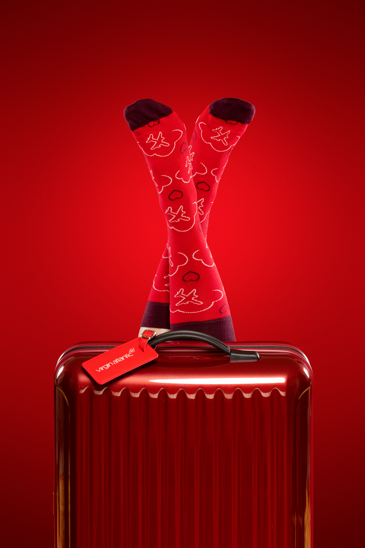 Virgin Atlantic's bespoke socks by Happy Socks
