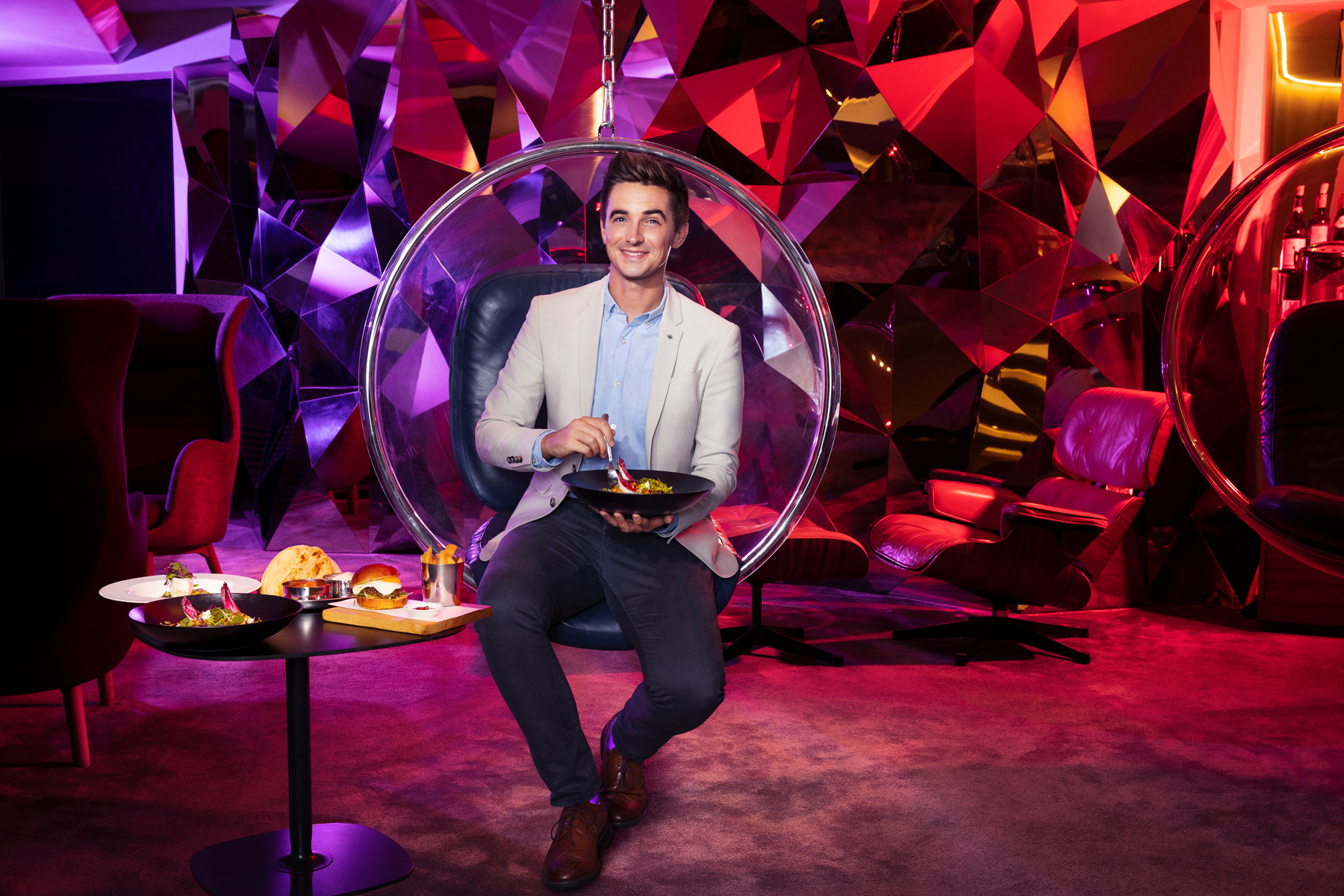 Donal Skehan, creator of the new lounge menu for Virgin Atlantic