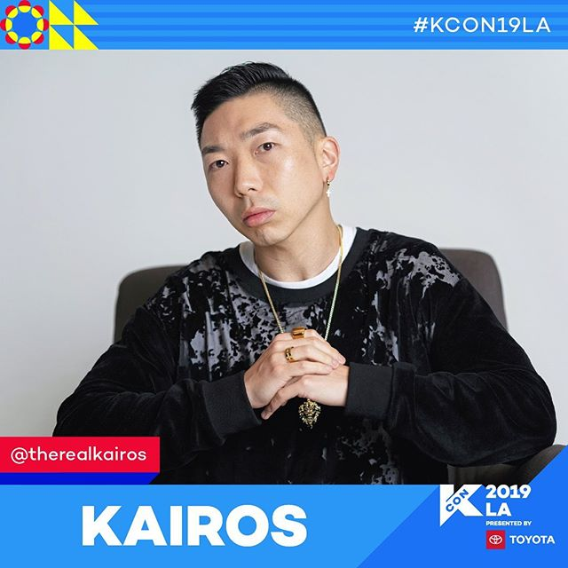 Who is coming to KCON LA???? Come meet @therealkairos and our team Friday 3:30 Panel #2 (404AB)!! . . . . . #kconla #producer #songwriter #kpop 📸: @iriscontrol