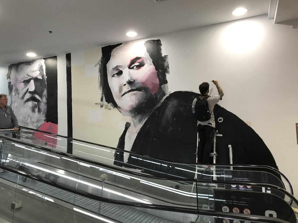 historic portraits Marrickville Metro - In late 2017 we worked closely with our local historian and local artist Brad Robson to bring to life murals of prominent locals on the travelator entry nearest ALDI. Learn more about the historic personalities in these portraits and how they shaped our local area.Read more: