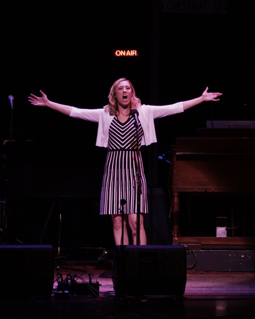 "Jennifer recently appeared as a musical guest on A Prairie Home Companion with Garrison Keillor from Galveston TX. This is an image of her singing ""Una Voce Poco Fa""."