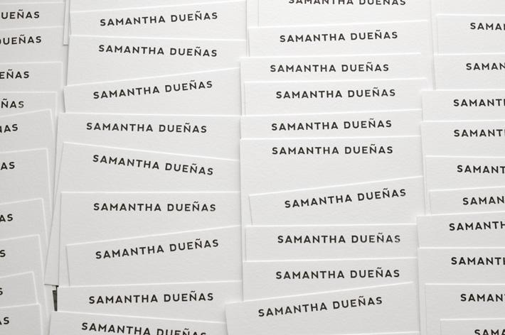 Samantha Dueñas Custom Notecards / Paper & Type