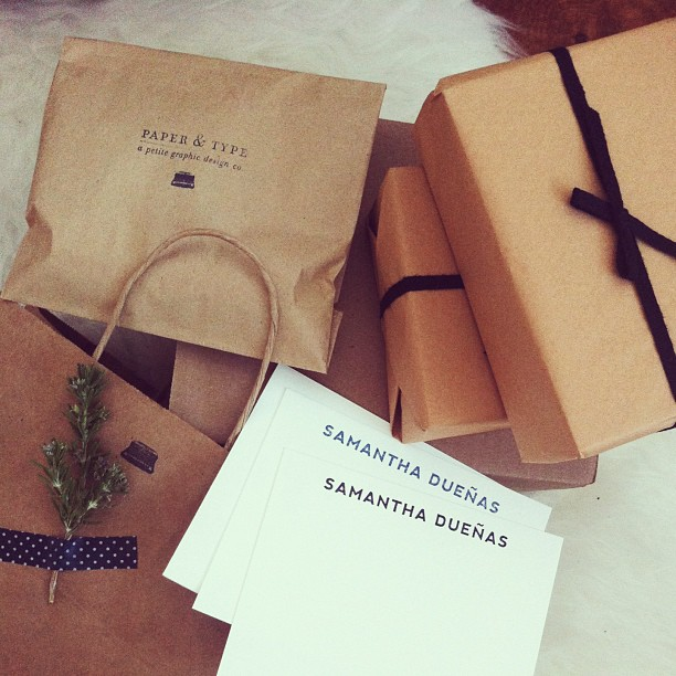 Samantha Dueñas Custom Notecards / Paper & Type