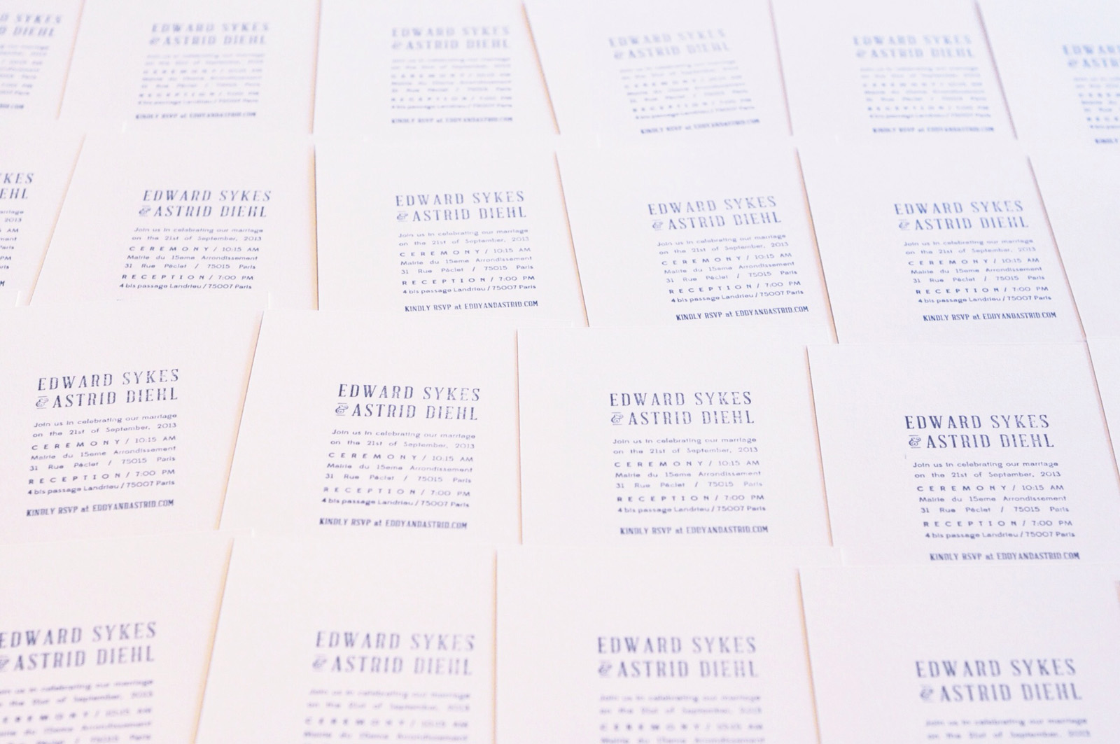 Astrid & Eddy Wedding Invitation / Paper & Type