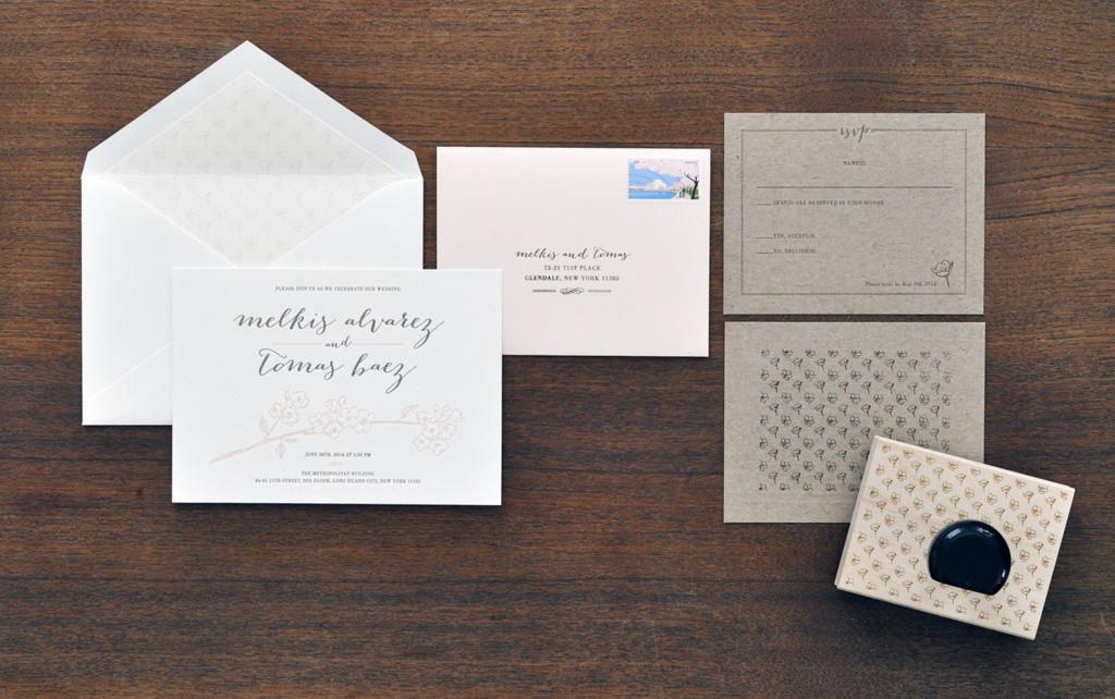 Cherry Blossom Wedding Invitation / Paper & Type