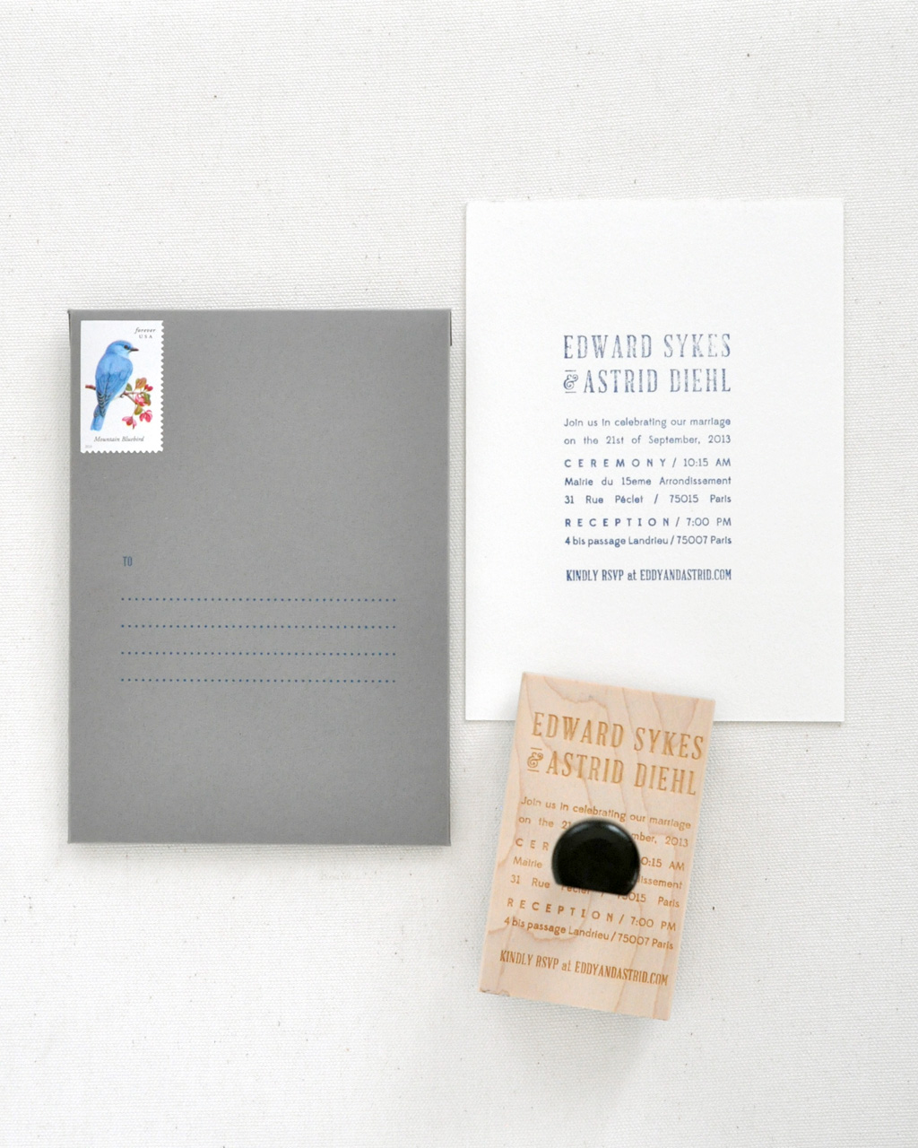 Astrid & Eddy Wedding Invitations / Paper & Type