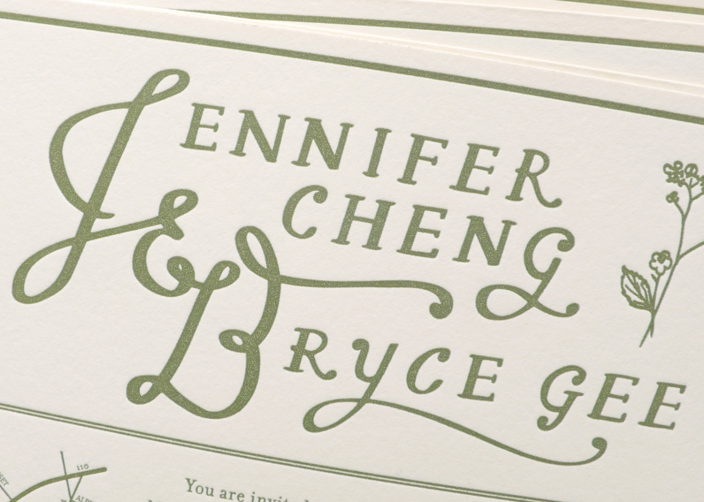 A Theatre Wedding / Paper & Type