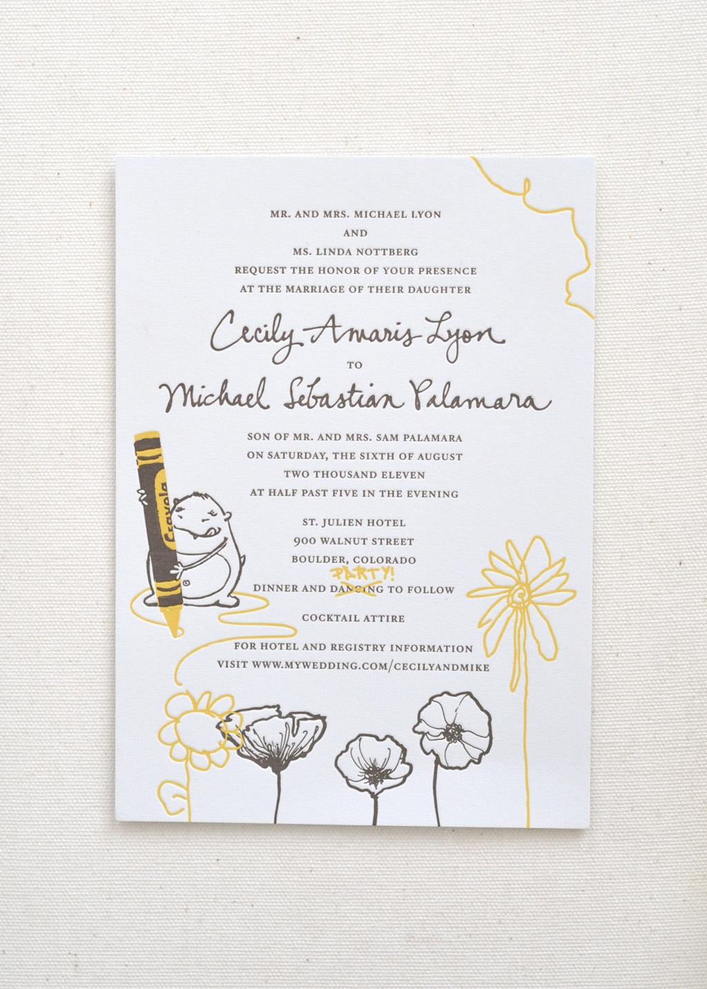 Monster Wedding Invitation / Paper & Type x Scott Goldberg