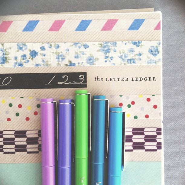 Paper & Type's Letter Ledger, customized by Paper Pastries.
