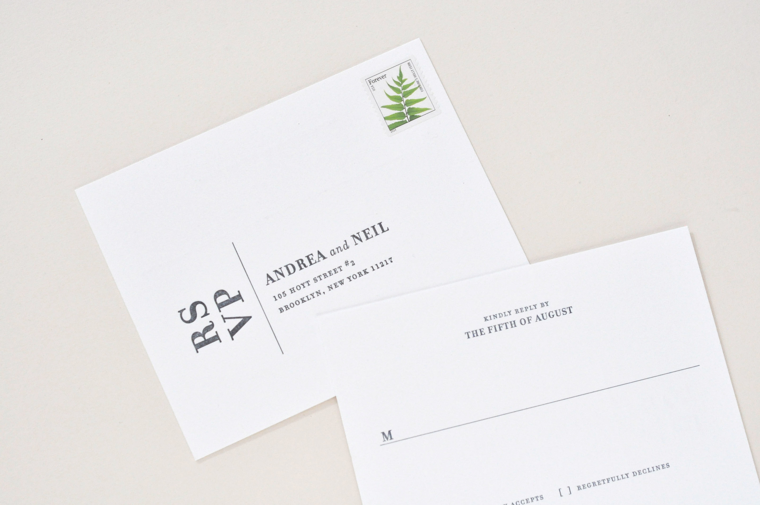 Andrea & Neil Wedding Invitation / Paper & Type.
