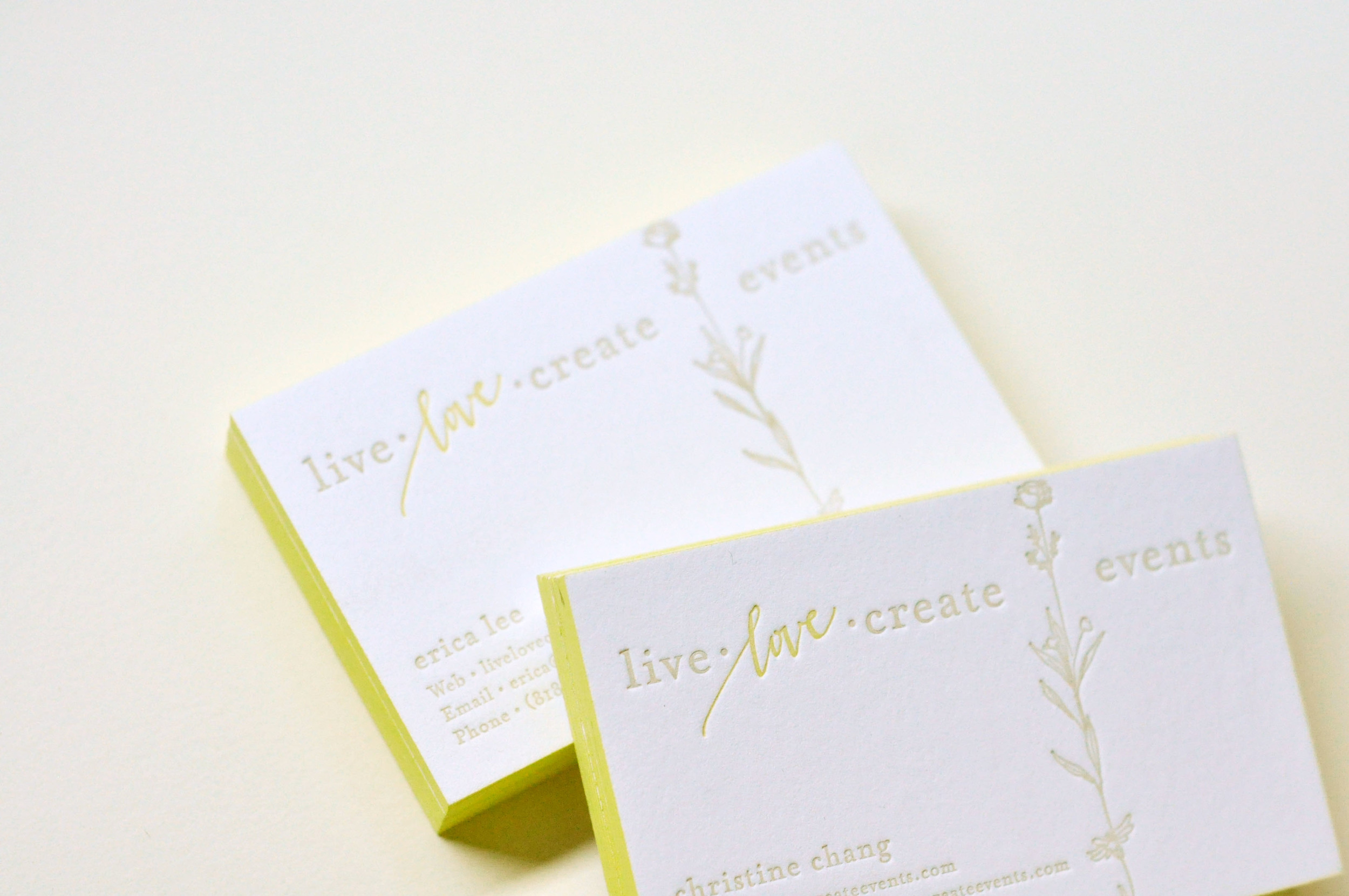 Business cards for Live.Love.Create / Paper & Type