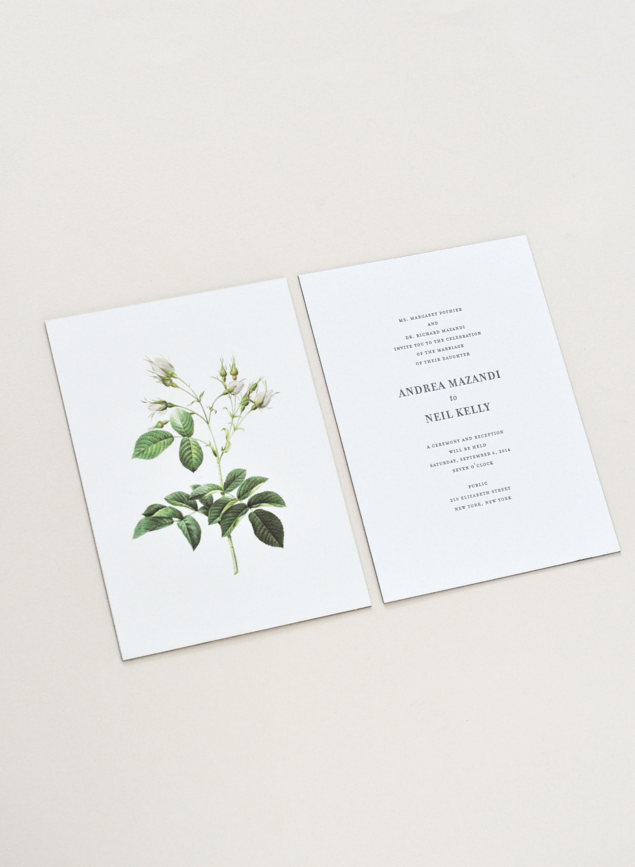 Wedding invitation / Paper & Type